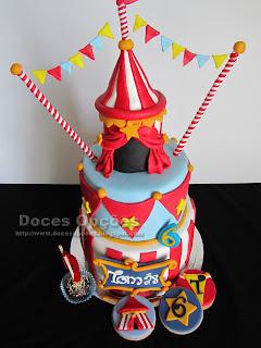 Bolo de aniversário Circo