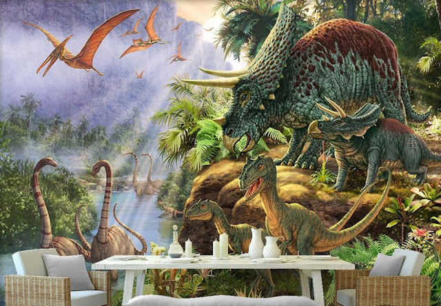 Dinosaur wall mural Photo Wallpaper Jurassic Dinosaur World 3D Wall Mural Wallpaper For Bedroom Walls