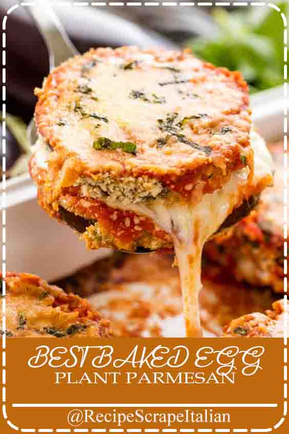 BEST BAKED EGGPLANT PARMESAN #bestrecipes #food #delicious