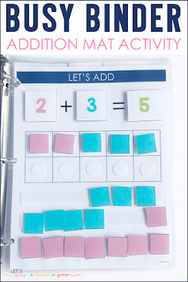 Addition Practice Busy Binder Activity