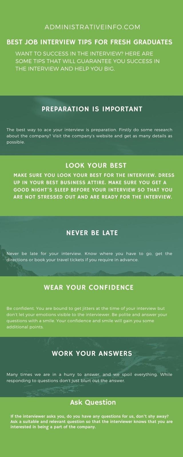 Best Job Interview Tips for Fresh Graduates