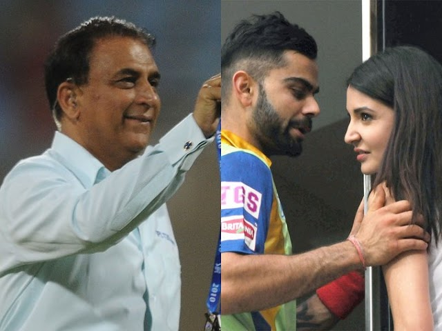 Gavaskar takes jibe at Virat Kohli and Anushka Sharma