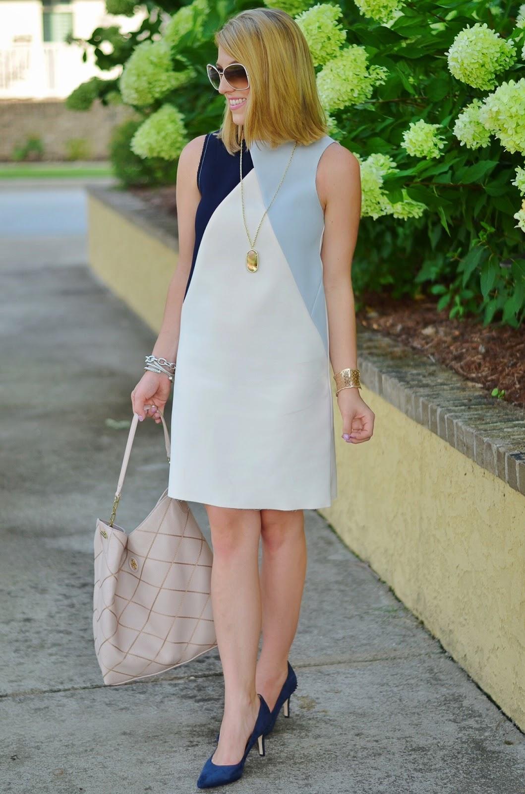 Something Delightful: Colorblock Shift Dress