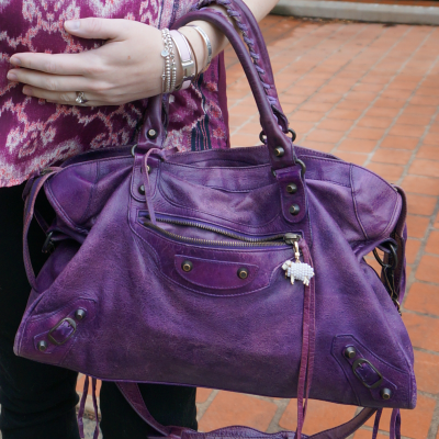 away from blue balenciaga sapphire purple city bag