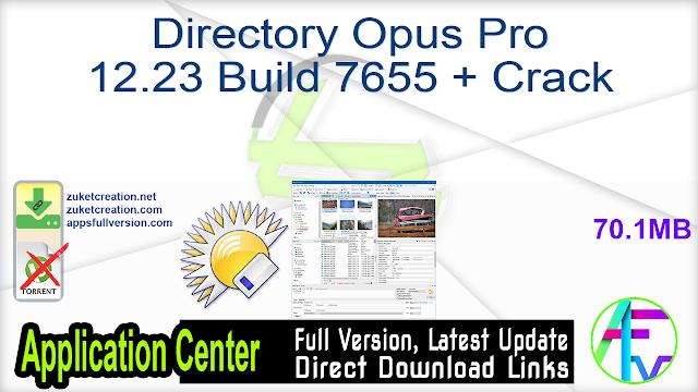 Directory Opus Pro 12.23 Build 7655 + Crack