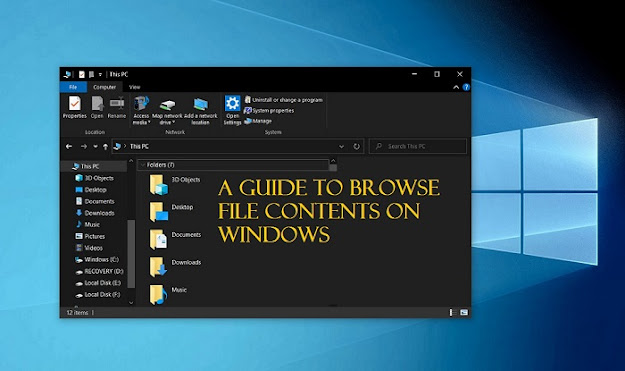 A Guide to Browse File Contents on Windows
