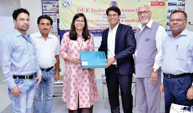Organizing seminars on GST audit by DLF Industry Association Faridabad