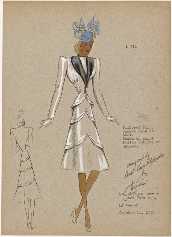 13-Tailored-Suit-New-York-Public-Library-André-Studios-Fashion-Vintage-Illustrations-and-Drawings-from-the-1930s-www-designstack-co