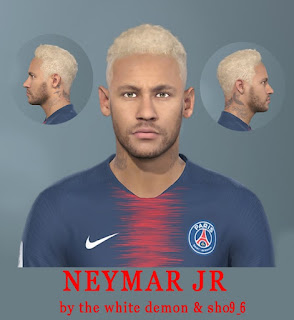 PES 2019 Faces Neymar Jr by Jarray & The White Demon