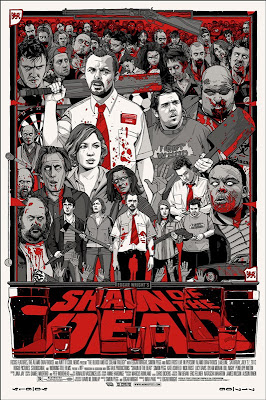 Shaun of the Dead Variant Screen Print by Tyler Stout