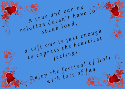 A true and caring relation, Happy Holi