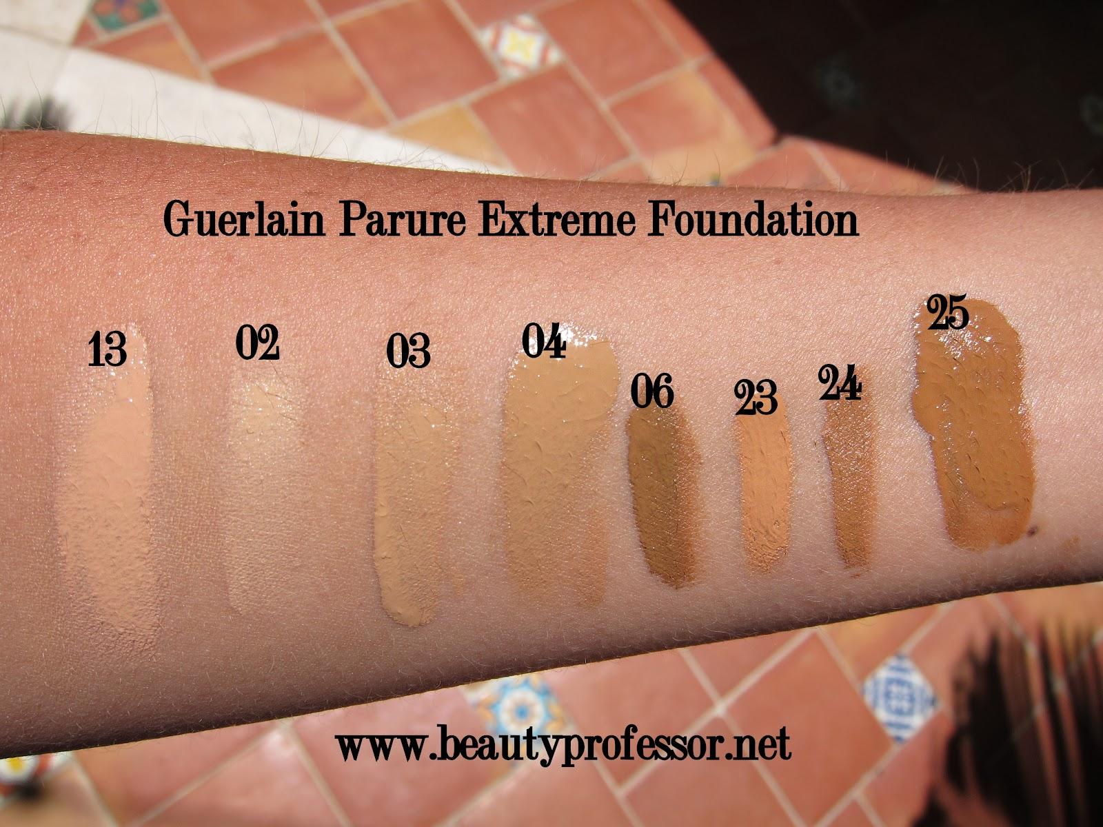 foto ufficiali Sconto del 60% ufficiale Beauty Professor: Guerlain Parure Extreme Foundation Swatches