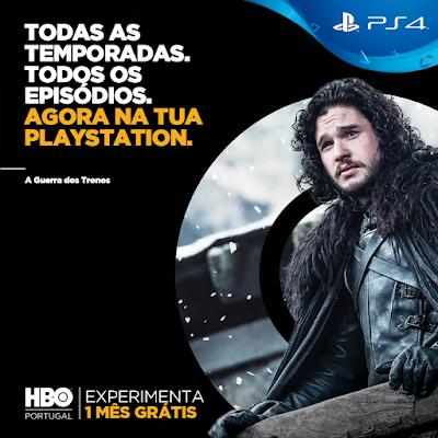 HBO disponível na PlayStation®4 em Portugal