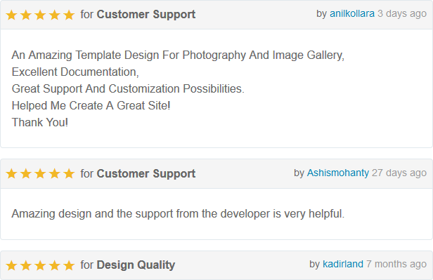PhotoHall - Responsive Photography Blogger Theme Rating