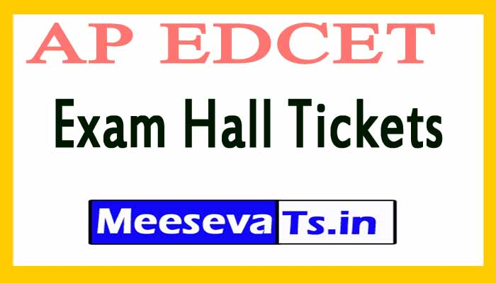 AP EDCET Exam Hall Tickets Download