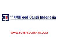 Lowongan Kerja Sragen Bulan Maret 2021 di PT UNIFood Candi Indonesia