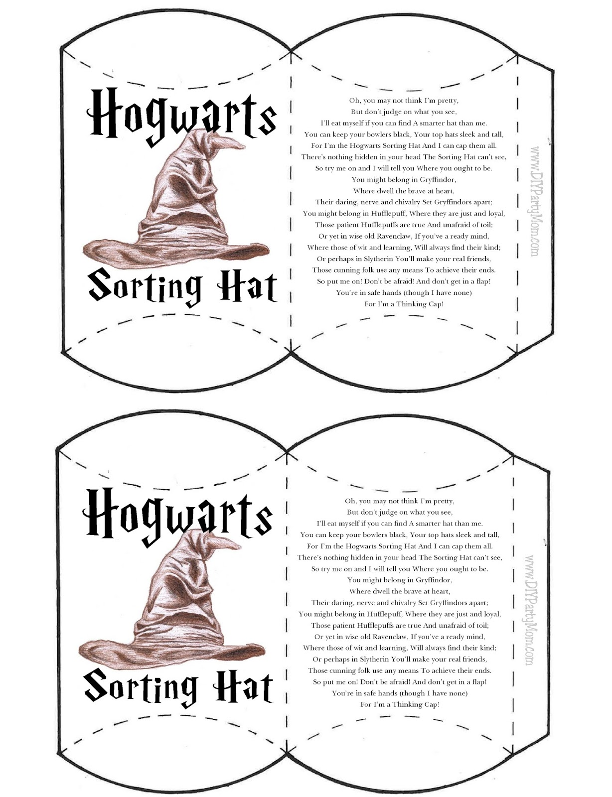 photograph regarding Printable Sorting Hat Quiz named Hogwarts Homes Sorting Hat Pillow Box Do-it-yourself Occasion Mother