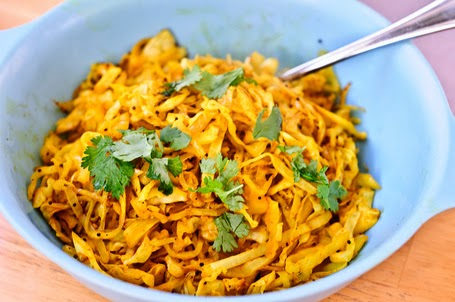Five-Minute Indian-style Cabbage