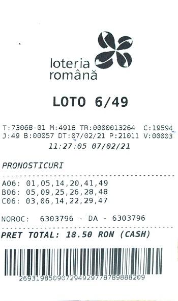 Câștigătoarea de la loto 6 din 49 din 7 februarie 2021 și-a ridicat premiul