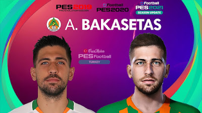 PES 2021 Faces Anastasios Bakasetas by PES Football Turkey