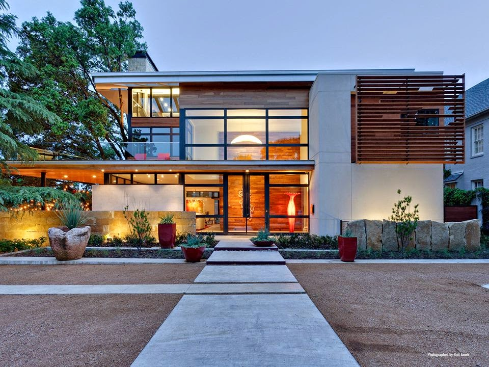 Construindo minha casa clean 30 fachadas de casas for Contemporary houses in dallas for sale