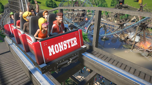 Planet Coaster Review parked monster roller coaster