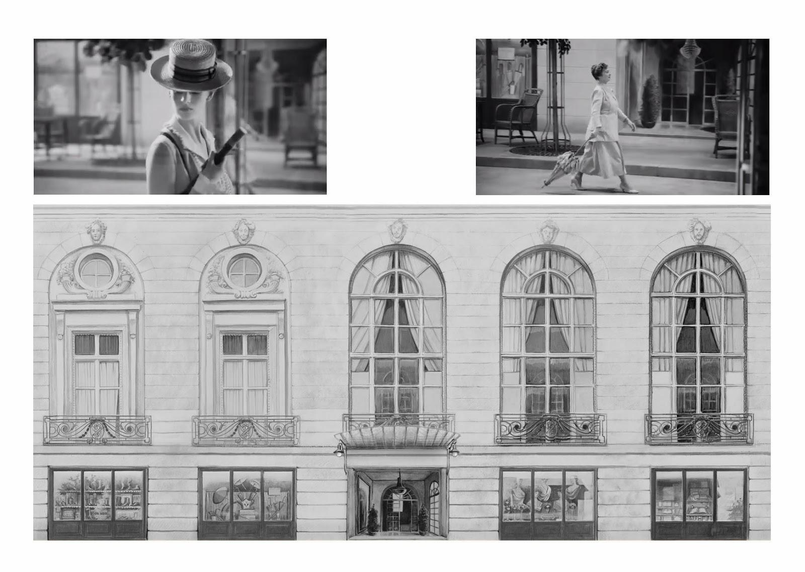 Sylvain bossut maquette de facade du casino de deauville en 1910 pour un d cor de film chanel for Decoration du facade orleans