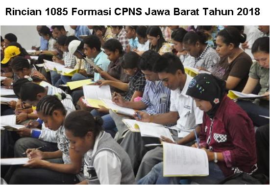 Rincian 1085 Formasi CPNS Jawa Barat Tahun 2018