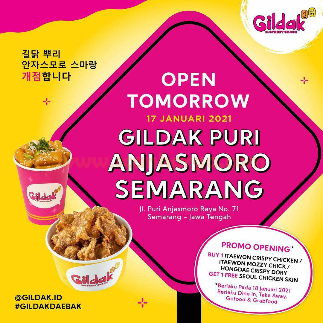 GILDAK Puri Anjasmoro SEMARANG Opening Promo Beli 1 Gratis 1