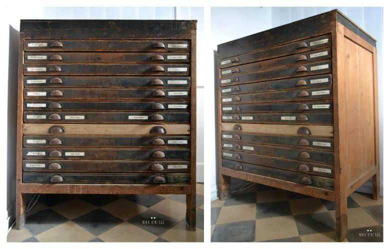 Una nueva seccion en la que hablaremos de como restaurar muebles antiguos, el primero será un precioso mueble de imprenta