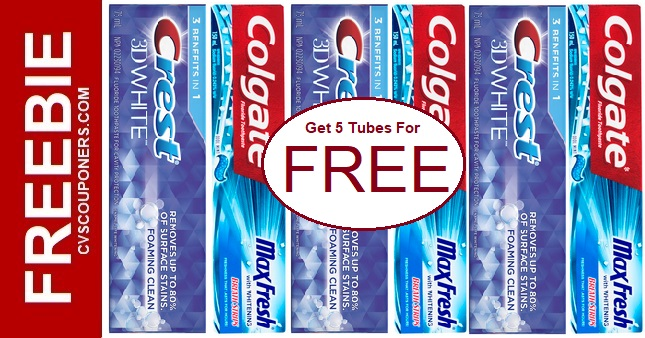FREE Toothpaste Coupon Deals at CVS