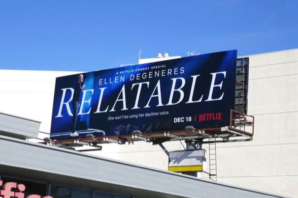 Ellen DeGeneres Relatable Netflix billboard