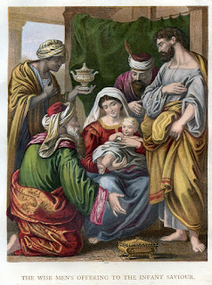 The wise men's offering to the infant saviour