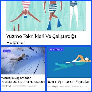 yüzme konulu yayınlar