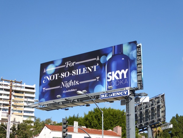 silent nights Skyy Vodka billboard