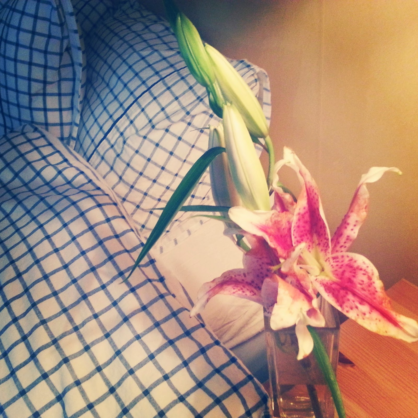 Stargazer lillies  |  Leaving NYC on afeathery*nest  |  http://afeatherynest.blogspot.com