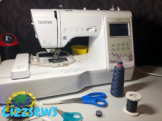 This is my Brother SE600 embroidery machine