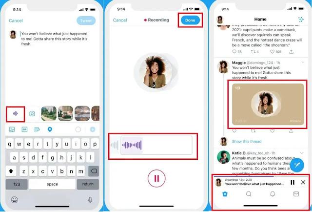 كيفية استخدام ميزة التغريدات الصوتية في تويتر؟ وارسالها للايفون ...