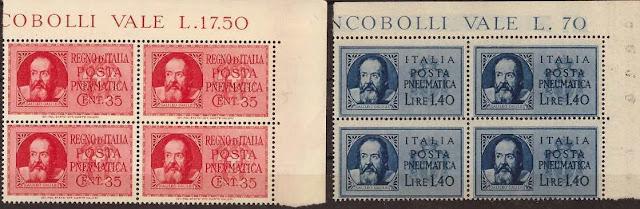Italy Galileo Galilei Blocks of 4