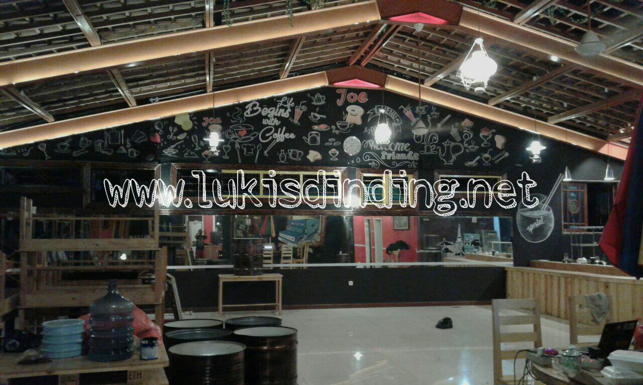 Harga di situs web lukisdindingnet  Lukisan Dinding Cafe