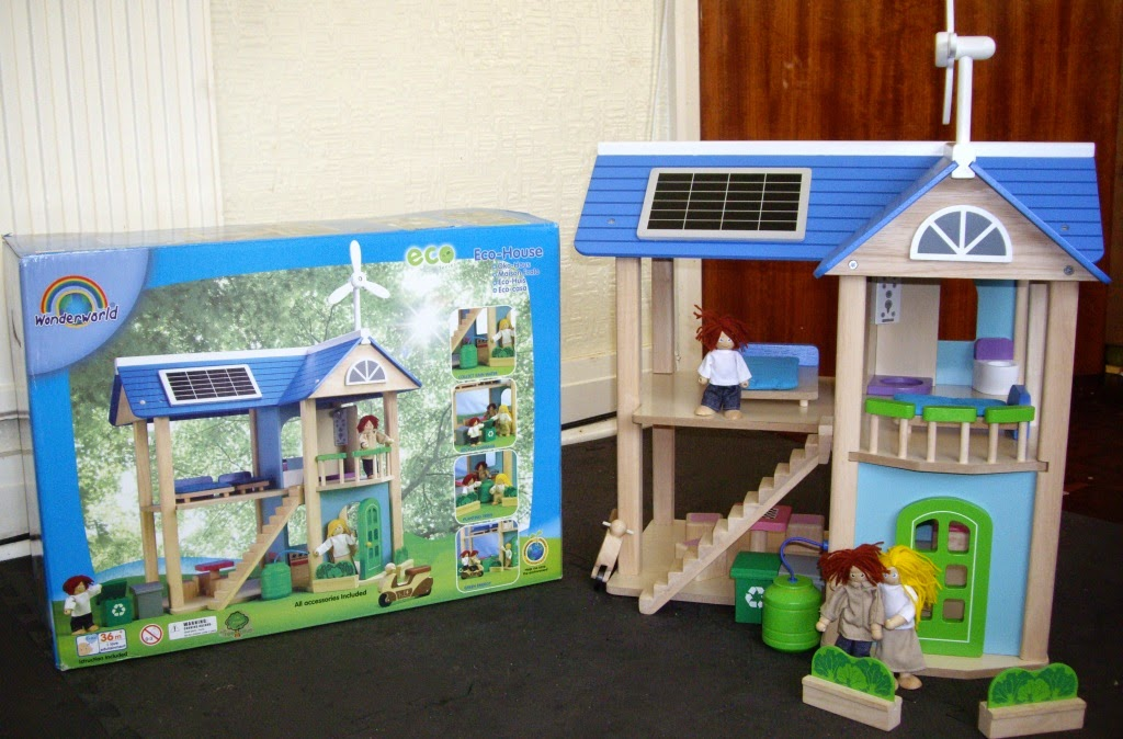 The fabulous Wonderworld Eco-House with solar panels and windmill