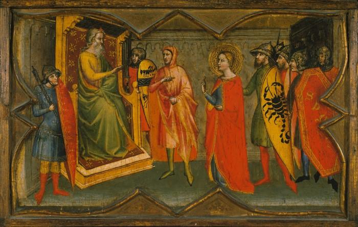 Святая Люсия и ее мать в храме святой Агаты