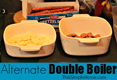 Substitute double-boiler