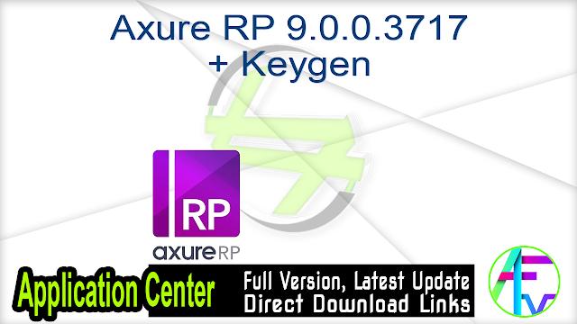 Axure RP 9.0.0.3717 + Keygen