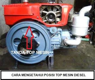 cara mengetahui top mesin diesel