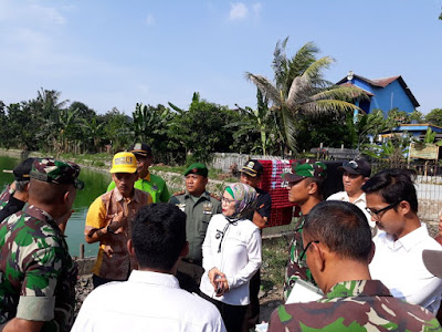 Danrem 051/Wkt Dampingi Kasdam Jaya Tinjau Pintu Air