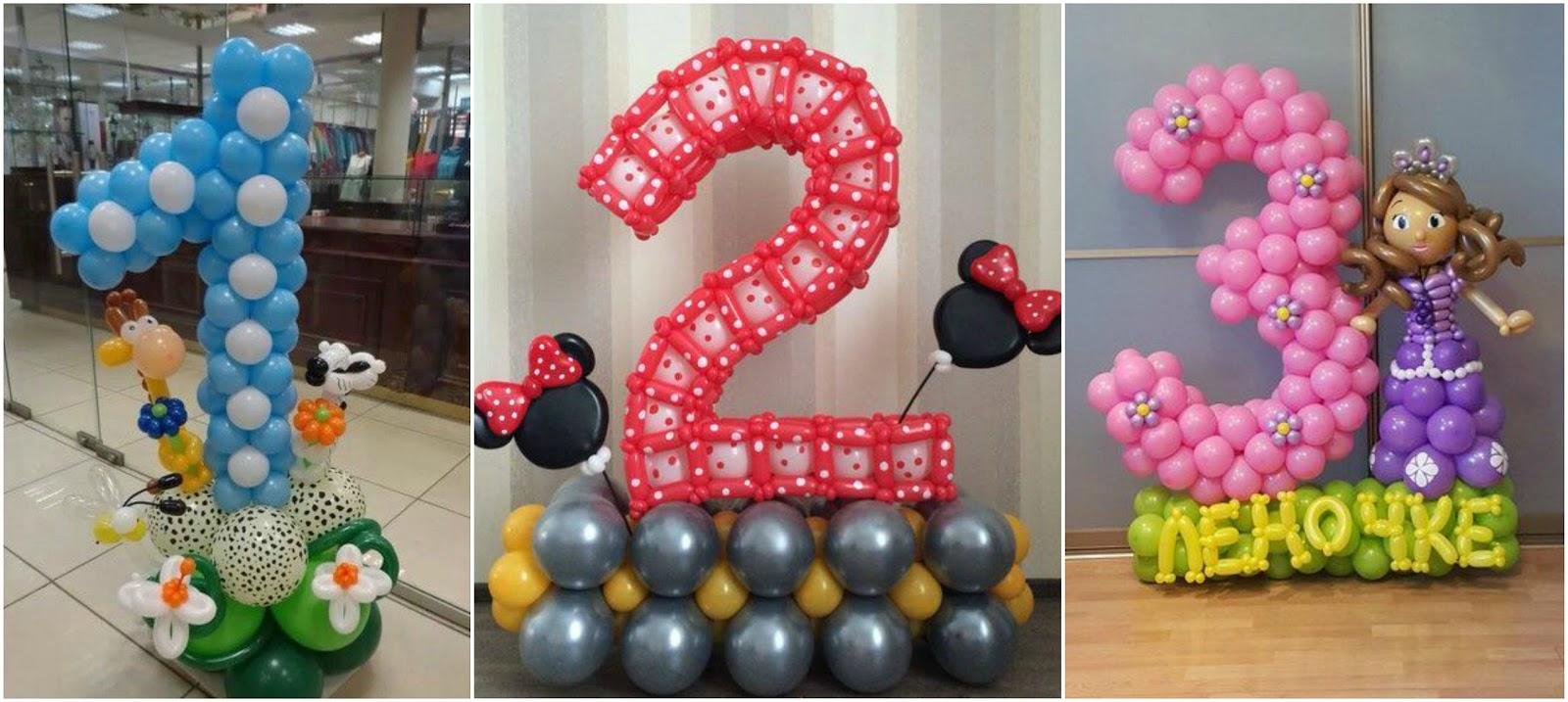 V deo tutorial aprende c mo hacer n meros decorativos con - Como hacer decoracion con globos ...