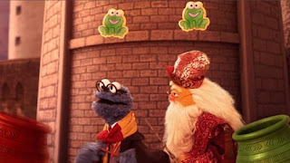 Cookie Monster must complete challenges brought upon by Crumbledore. Sesame Street Cookie's Crumby Pictures Furry Potter and the Goblet of Cookies.