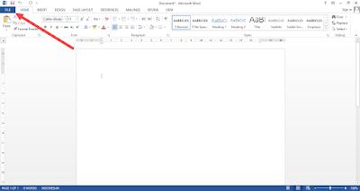 menonaktifkan fitur start screen ms office