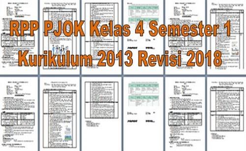 RPP PJOK Kelas 4 Semester 1 Kurikulum 2013 Revisi 2018